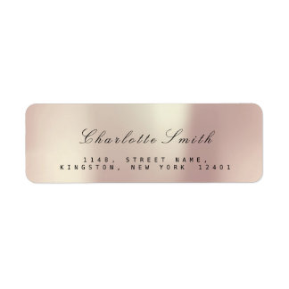 Pearly Champaign Pink Rose Blush Return Address