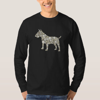 Pearly Kimg and Queen Bull Terrier button print T-Shirt