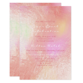 Pearly Metallic Peach Pink Rose Pastel Glass Card