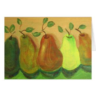 Pears - Acrylic Painting by Trevor Star Card
