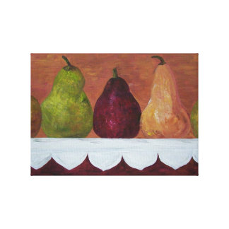 Pears on Parade Canvas Print