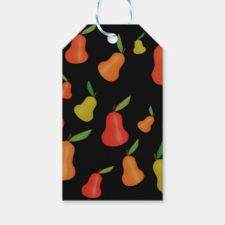 Pears pattern pack of gift tags
