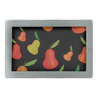 Pears pattern rectangular belt buckles