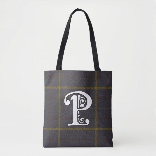 Pearson Clan Tartan Monogram Tote Bag