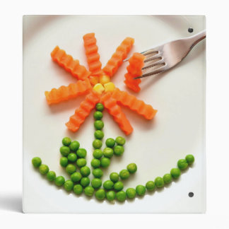 Peas and Carrots Personalized Recipe Binder