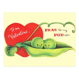 Peas Be My Podner Postcard