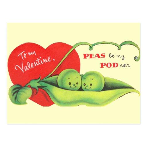 Peas Be My Podner Postcards