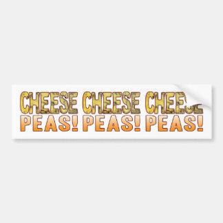 Peas Blue Cheese Bumper Sticker