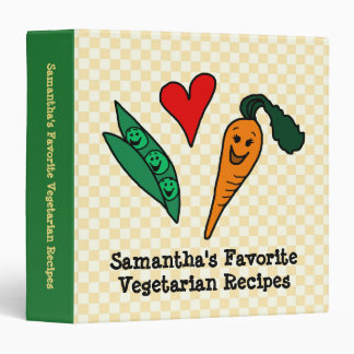 Peas + Carrots, Personalized Vegetable Recipe Book Binders