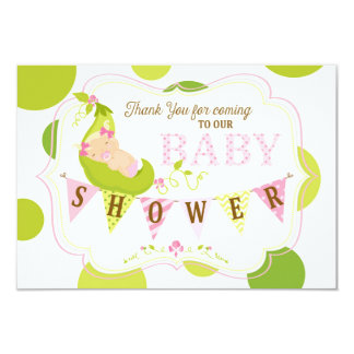 Peas in a Pod Baby Girl Thank You Card