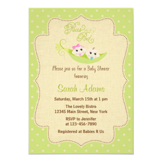 Peas In A Pod Baby Shower Invitation