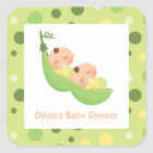 Peas in a Pod Cute Twins Baby Shower Stickers