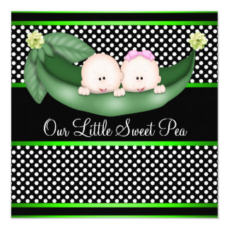 Peas In A Pod Gender Reveal Card