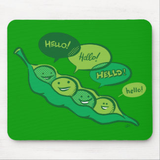 Peas in a Pod (Hello) Mousepad