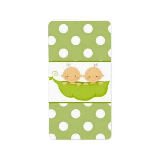 Peas In A Pod Twins Baby Shower Candy Wrapper