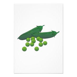 Peas Personalized Invitation