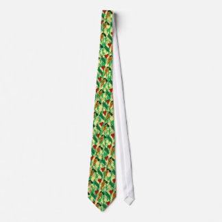 Peas Love Carrots, Cute Green and Orange Design Tie