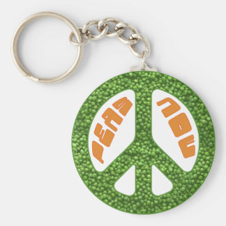 Peas Now Keychain