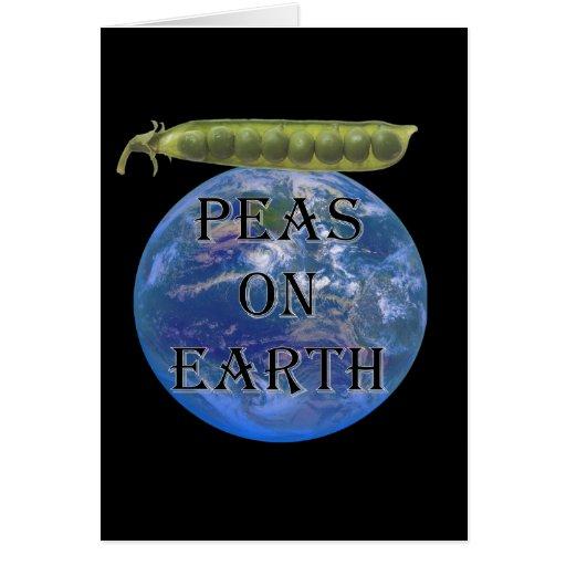 Peas on Earth Greeting Card