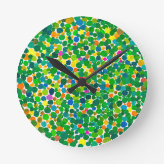 Peas on earth  (no text) round clock