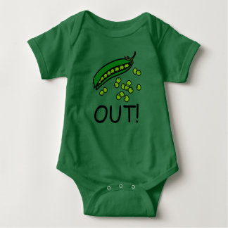 Peas Out! One-Piece Baby T-Shirt