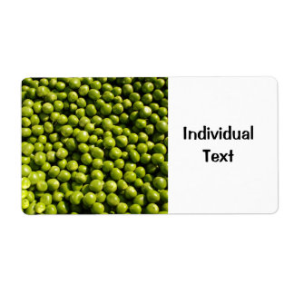 peas shipping label