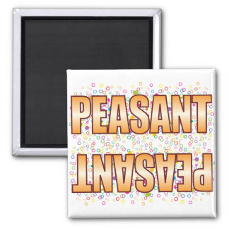 Peasant Bubble Tag Magnet