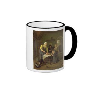 Peasant Family at Meal time, c.1665 Coffee Mug