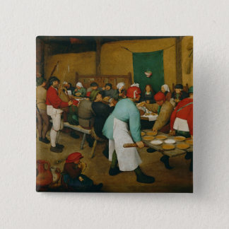 Peasant Wedding , 1568 2 Inch Square Button