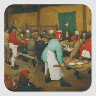 Peasant Wedding , 1568 Square Sticker