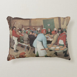 Peasant Wedding by Brueghel Accent Pillow