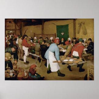 Peasant Wedding by Pieter Bruegel the Elder Poster