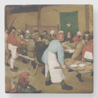 Peasant Wedding by Pieter Bruegel the Elder Stone Coaster
