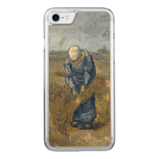 Peasant Woman Binding Sheaves by Vincent Van Gogh Carved iPhone 7 Case