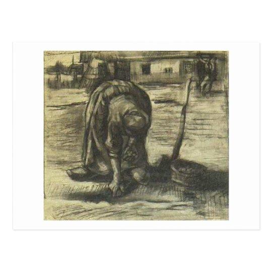 Peasant Woman Planting Potatoes, Vincent van Gogh Postcard