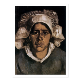 Peasant Woman with White Cap Van Gogh Fine Art Postcard