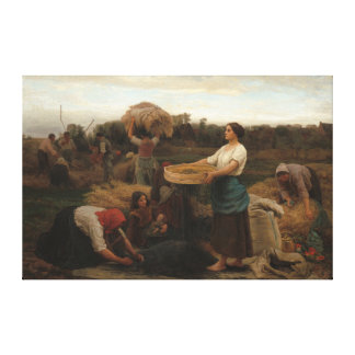 Peasant Women Harvesting  Rapeseed by Jules Breton Canvas Print