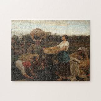 Peasant Women Harvesting  Rapeseed by Jules Breton Jigsaw Puzzle