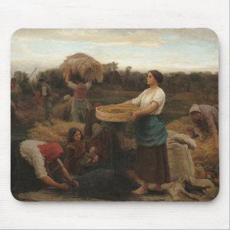 Peasant Women Harvesting  Rapeseed by Jules Breton Mouse Pad