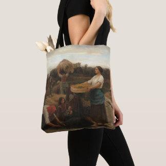 Peasant Women Harvesting  Rapeseed by Jules Breton Tote Bag