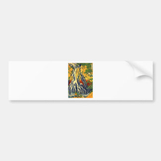 Peasants and Waterfall Bumper Sticker