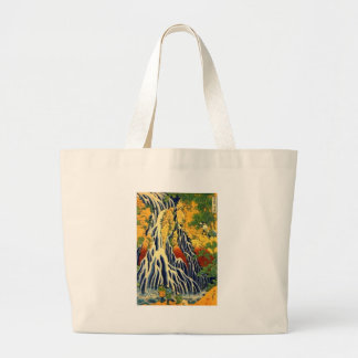 Peasants and Waterfall Large Tote Bag