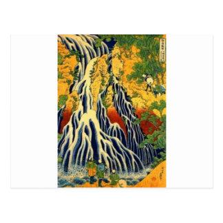 Peasants and Waterfall Postcard