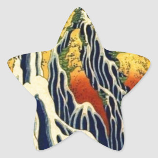 Peasants and Waterfall Star Sticker