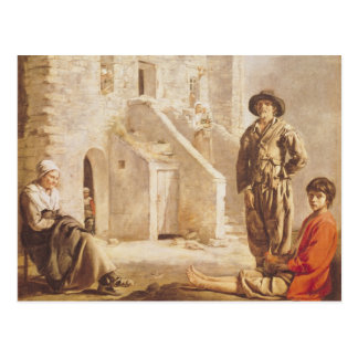 Peasants Before their House, c.1641 Postcard