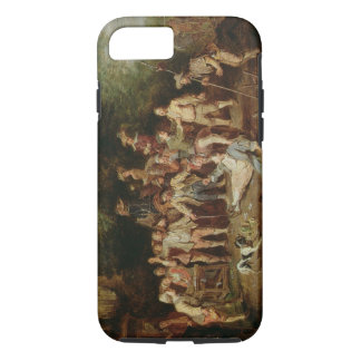 Peasants Brawling Outside a Tavern (oil on panel) iPhone 7 Case