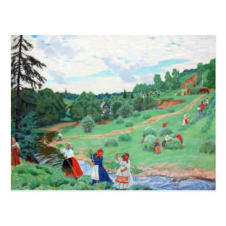 Peasants in a Field Postcard
