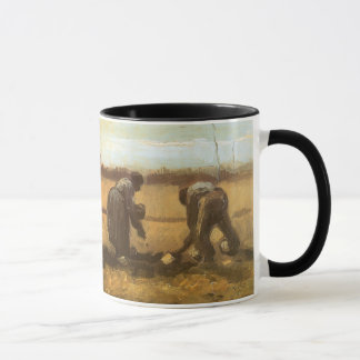 Peasants Planting Potatoes by Vincent van Gogh Mug