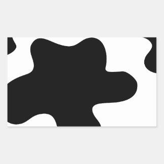 peau de vache sticker en rectangle