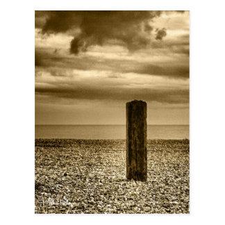 Pebble Beach Post at Felixstowe Postcard
